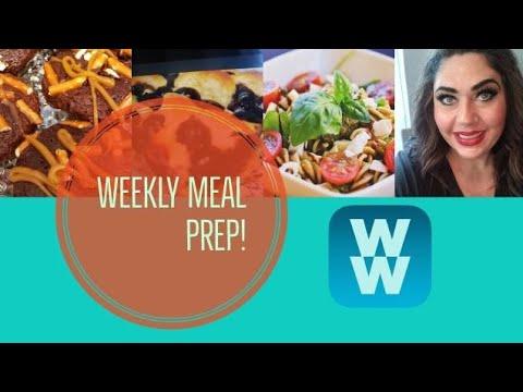 weekly-ww-meal-prep-|-pesto-pasta-salad-|-caramel-pretzel-cupcakes-&-more!-|-weight-watchers!