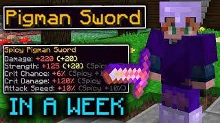 How I Unlocked the PIGMAN SWORD in a WEEK (Hypixel Skyblock)
