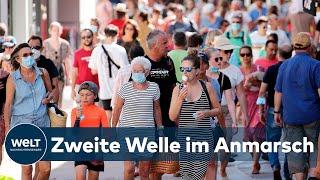 ZWEITE CORONAVIRUS-WELLE: Deutschland - Corona-Infektionsrate steigt in der Fläche schnell an