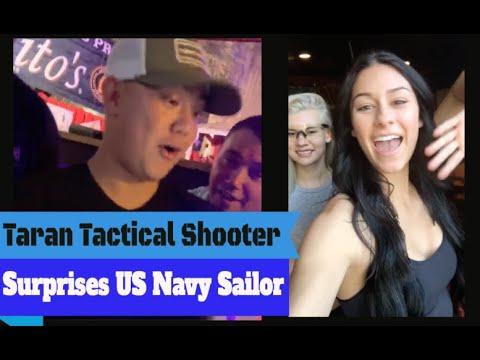 Taran Tactical Shooter Toni McBride Surprises Navy Sailor w/a Surprise Video Message!!