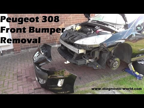 peugeot 308 front bumper removal guide - youtube