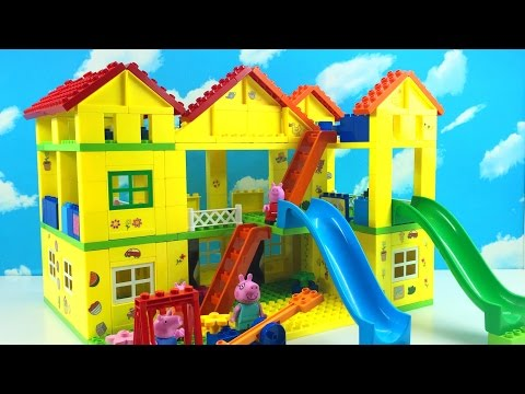 How To Build Peppa Pig House With Water Slide Lego Building Best Toys For Kids