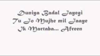 Aazaan   Afreen Lyrics   YouTube
