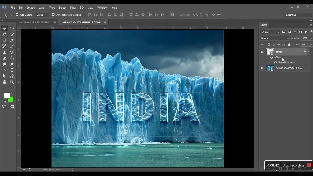 Photoshop ice text effect tutorial in marathi youtube photoshop ice text effect tutorial in marathi baditri Images