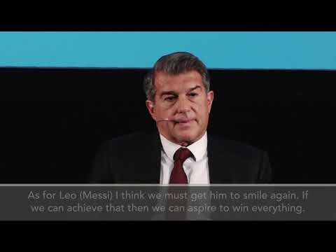 Download Laporta - Getting Messi to 'smile again' key to Barca success