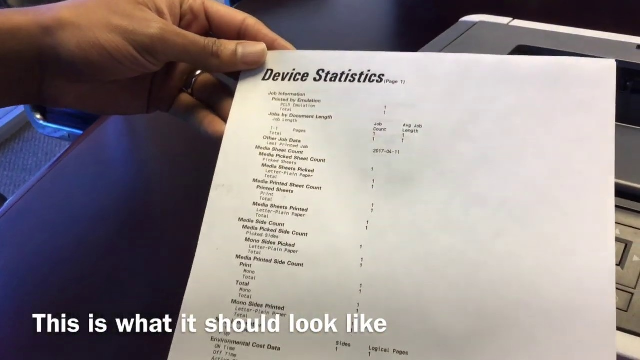 How to Print a Device Statistics on Your Lexmark MS415dn
