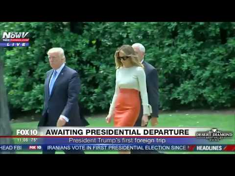 WATCH: President Trump, Melania and Ivanka Trump Leave The White House In Marine One