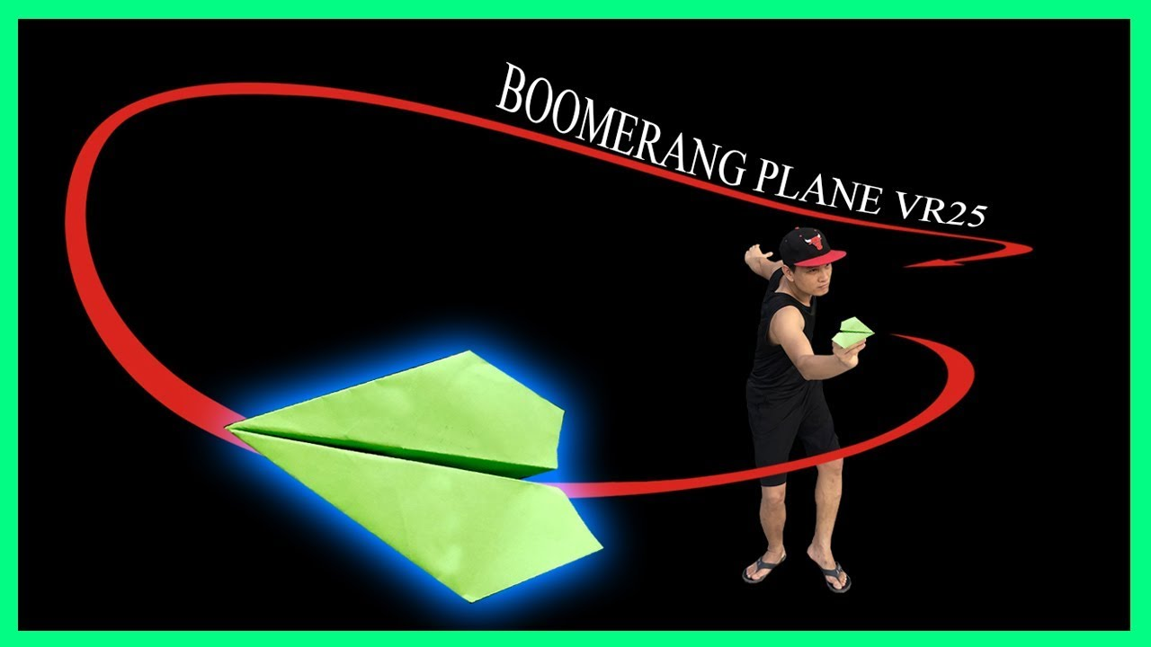 Cách gấp máy bay boomerang ver 25 | Как сделать бумажный самолетик Бумеранг #boomerangplane