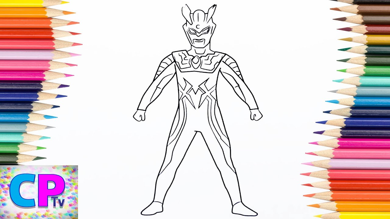 Ultraman Zero Coloring Pages For Kids How To Color