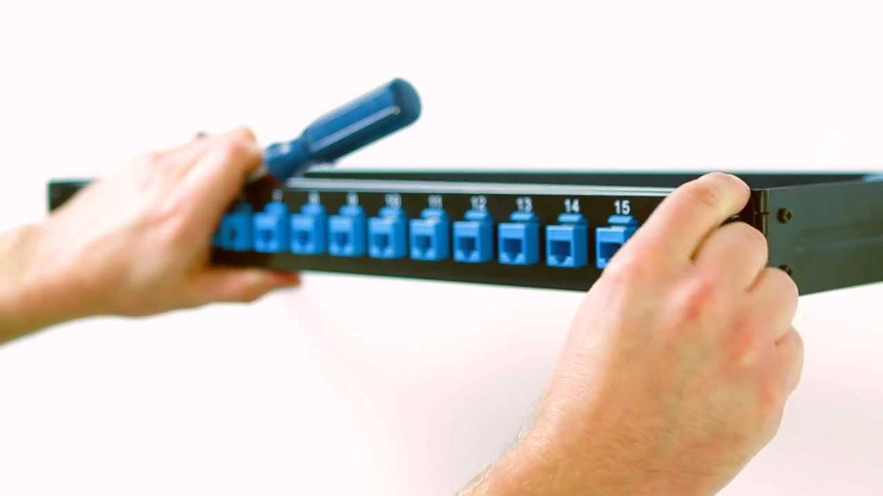 How To Install A Keystone Blank Patch Panel To A Wall