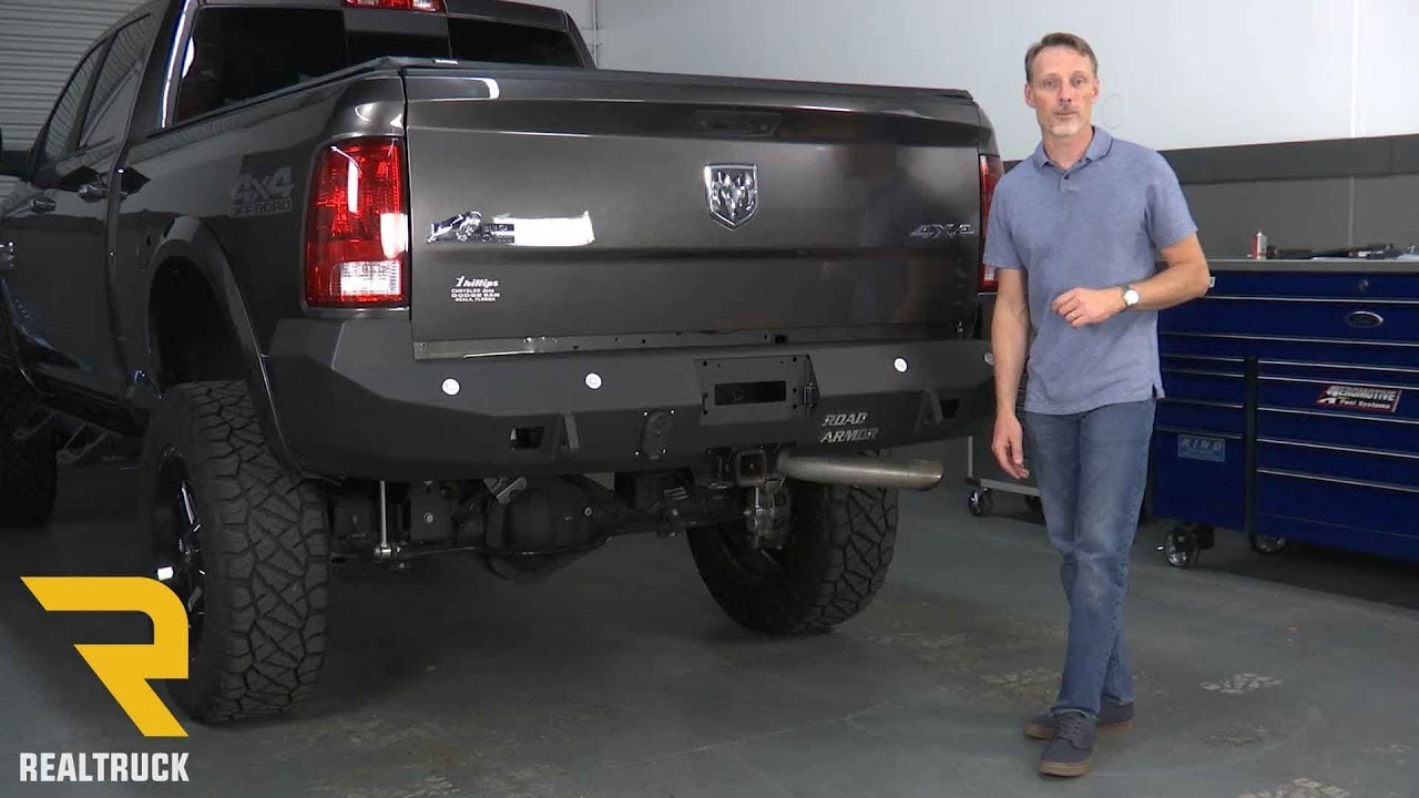 2016 Ram 1500 >> How to Install Road Armor Stealth Rear Bumpers on a 2017 Dodge Ram 2500 - YouTube