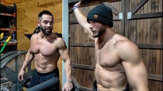 Day at RICH FRONING'S Barn: Bench Press and Bike Workout