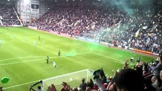 Hearts v Hibs - Green Smoke Flare