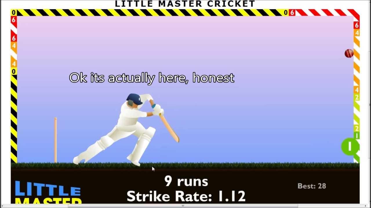 Flash Game Fun Time With Tedwyn 1 Little Master Cricket