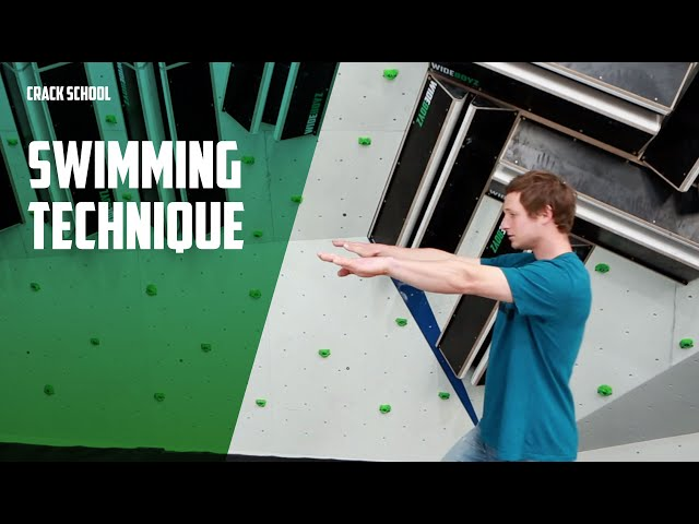 How to move whilst crack climbing, swimming technique | Wide Boyz Crack School