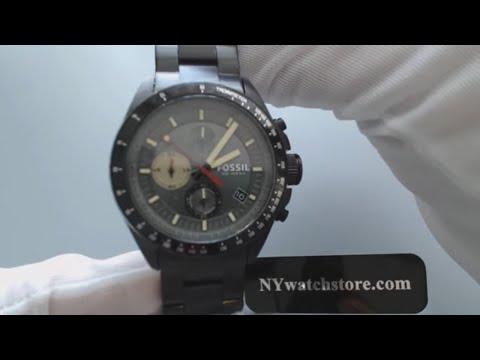 Men's Black Fossil Decker Chronograph Watch CH2942