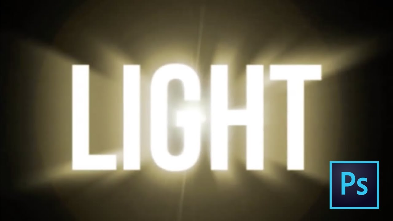 Photoshop Tutorial : Light text effect (HD) - YouTube