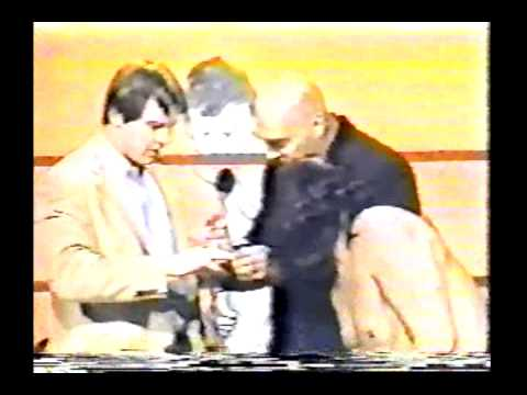 GCW - Gary Hart presents Roddy Piper with a gift......