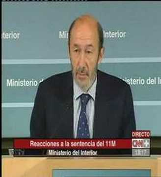 Declaraciones del ministro de interior rubalcaba 11m youtube for Declaraciones del ministro del interior