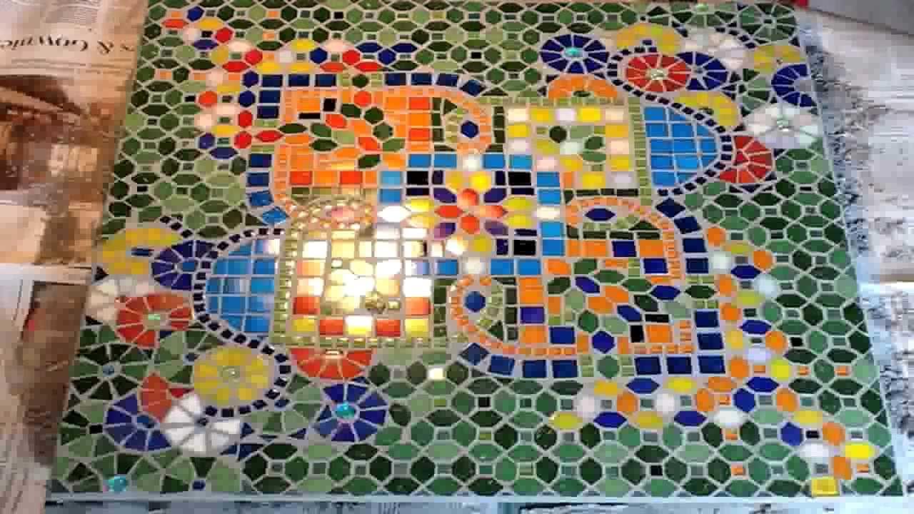 Mozaiek Tegels Plaatsen : Mozaiek voegen youtube