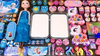 Download Special Series #40 BLUE vs PINK ELSA and UNICORN !! Mixing Random Things into GLOSSY Slime Mp3 and Videos