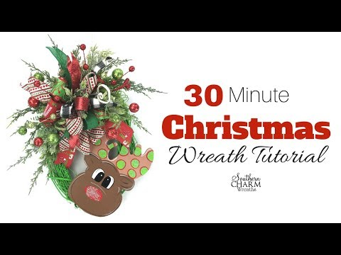 Quick 30 Minute Christmas Wreath Tutorial