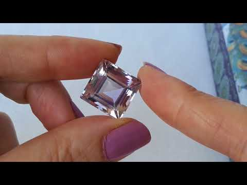 rose de france amethyst square cut 16 19 ct