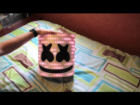Marshmello V2 Helmet with LEDs - TUTORIAL