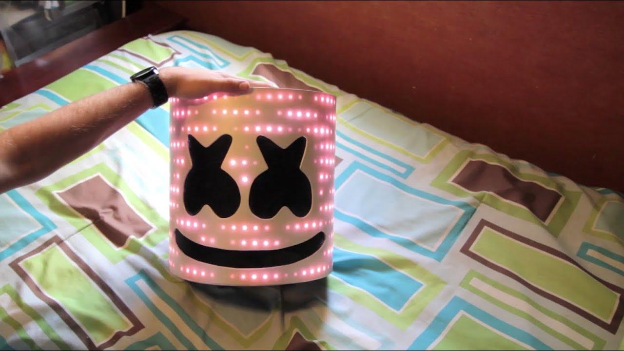 Marshmello V2 Helmet With Leds Tutorial Youtube