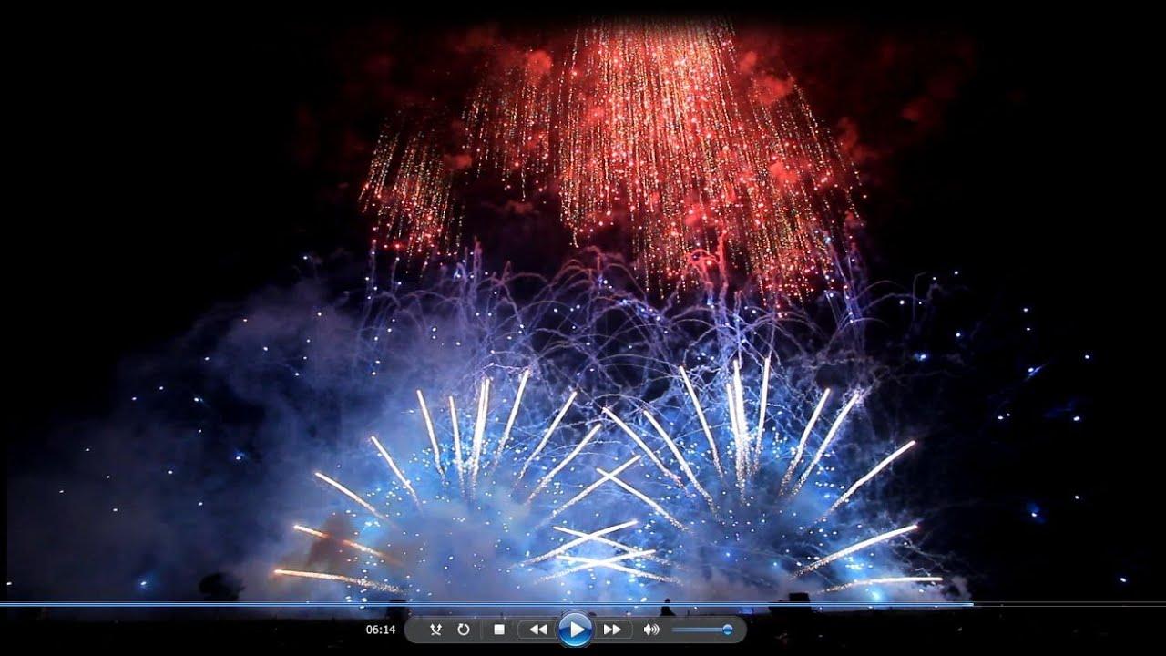 2014 やつしろ花火~ミュージック花火・Spiritual~紅屋青木煙火店☆彡 - YouTube