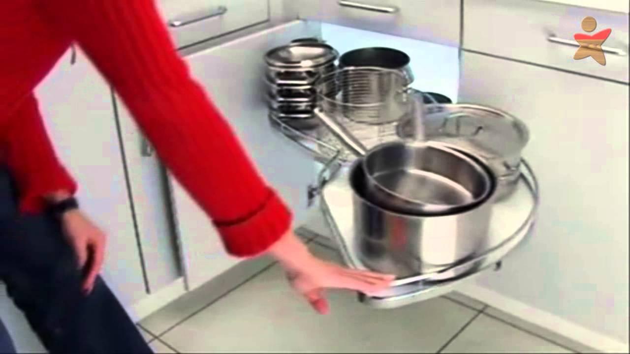 Carrusel de Cocina Tipo Lemans - YouTube