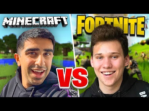 FORTNITE vs MINECRAFT Battle Royale Challenge!