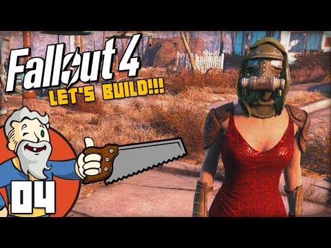 """SETTING UP SHOPS!!!"" Fallout 4 LET'S BUILD Part 4 - 1080p HD PC Gameplay Walkthrough"