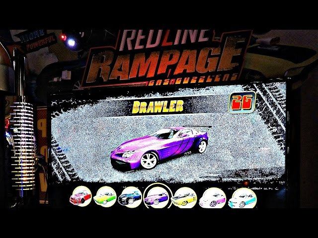 Let's Play Arcade Redline Rampage Gas Guzzlers Video Game Play! レースゲーム
