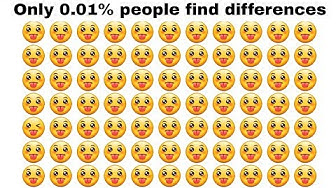 Only 0.01% can find differences between the  emoj (emoj riddle)