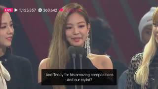 161110 BLACKPINK WIN  AWARD  @ 2016 ASIAN ARTIST AWARDS