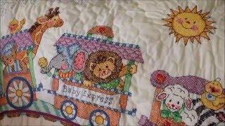Детское одеялко от Dimensions, подушка от Чарівної миті: обзор готовых работ. Мое мнение о наборах