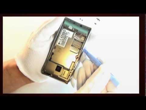 Reparaturanleitung LG GT540 Display Touch Lautsprecher Platine wechseln Repariren