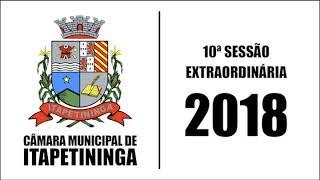 10ª Sessão Extraordinária