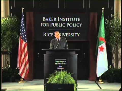 Shell Distinguished Lecture Series -- Abdelaziz Bouteflika French