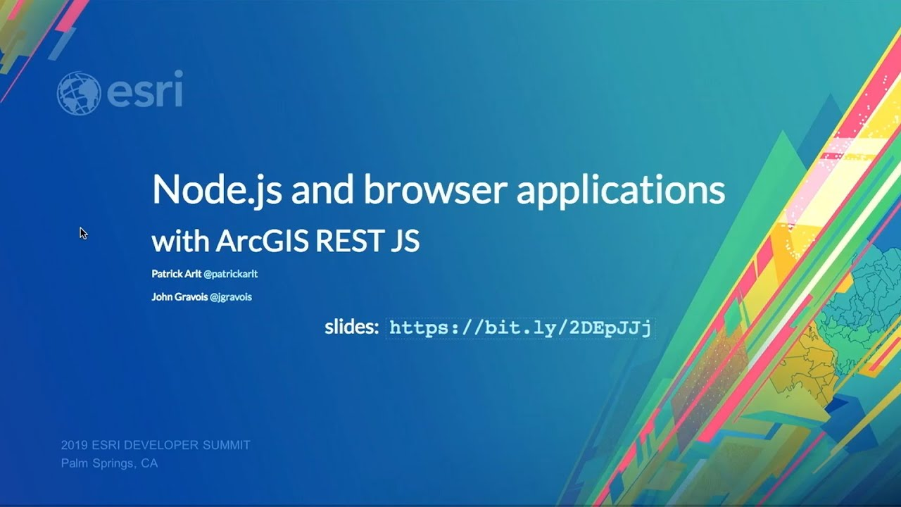 Node js and browser applications with ArcGIS REST JS