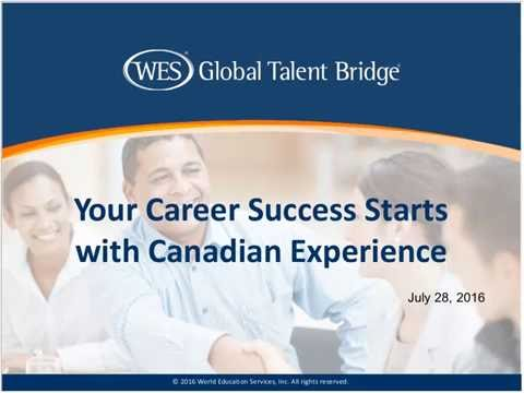 Your Career Success Starts with Canadian Experience