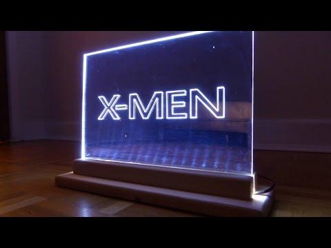 How To Make A Mirror Acrylic Led Edge Lit Sign /  Emblem / XMEN Themed Light