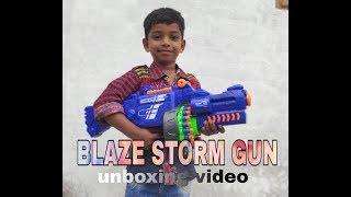 TOY Blaze Storm GUN //  Blaze Storm Soft Bullet Automatic Gun