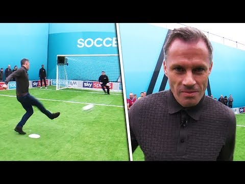 Carragher vs Graham  Penalties, volleys, freekicks & crossbar challenge  Soccer AM Pro Am