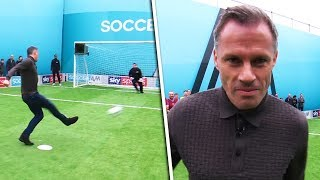 Carragher vs Graham | Penalties, volleys, freekicks & crossbar challenge | Soccer AM Pro Am