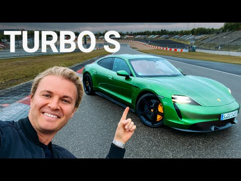 Drifting the Porsche Taycan Turbo S on Nürburgring F1 Track | Nico Rosberg