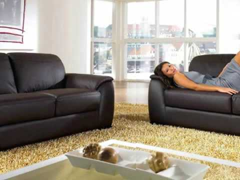 Monaco Leather Sofa Set by Abbyson Living YouTube