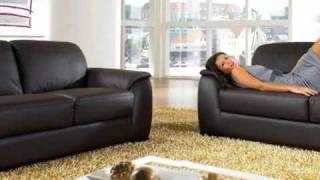 Monaco Leather Sofa Set by Abbyson Living