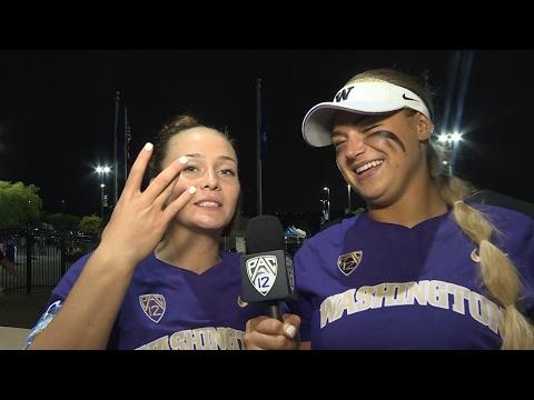 Women's College World Series: Washington's Taran Alvelo & Ali Aguilar break down win over UCLA